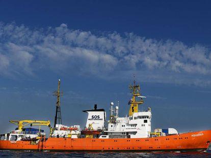 The 'Aquarius' rescue ship in a file photo.
