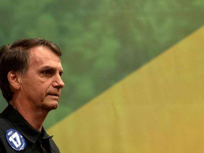 Brazilian presidential candidate Jair Bolsonaro.