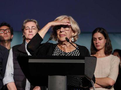 Acting Madrid Mayor Manuela Carmena (c).