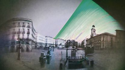 Madrid's Puerta del Sol, around the time of the 2011 winter solstice.