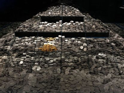 Around 30,000 silver coins and several gold ones were restored for a show in Madrid in 2014.
