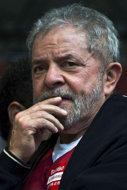 Lula da Silva during a May 1 rally.