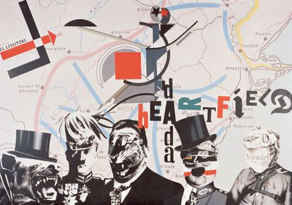 Heartfield Lissitzky, a 1973 work by the Spanish art collective Equipo Crónica and which features in the IVAM anniversary exhibition.