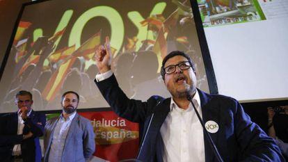 The Vox leader in Andalusia, Francisco Serrano.