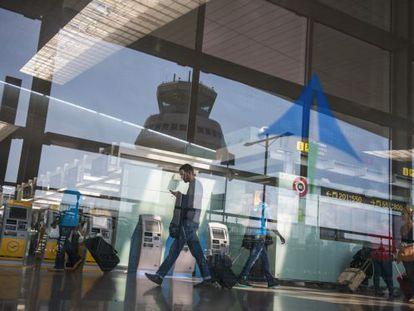Terminal 1 at Barcelona-El Prat airport.