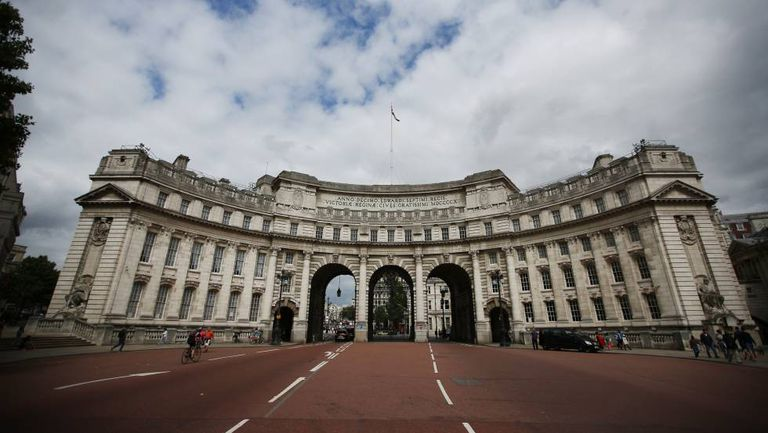 The Admiralty Arch in London.