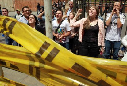 A group against homosexual adoption holds a protest in Bogota, Colombia.