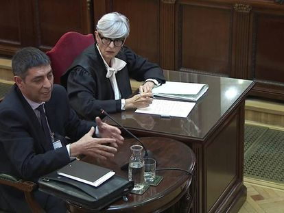 Josep Lluís Trapero in the Supreme Court on Thursday.