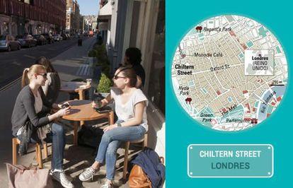 The Monocle Café on London's Chiltern Street.