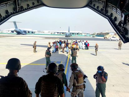 The second aircraft sent by Spain to Kabul.