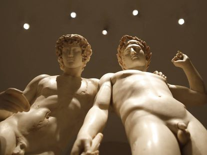 The 'Castor and Pollux' group, which dates from the 1st century AD.