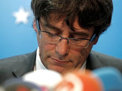Ousted Catalan leader Carles Puigdemont in Brussels.