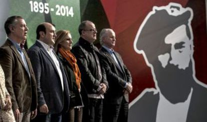 Basque Nationalist Party officials at a 2014 tribute to party founder Sabino Arana.
