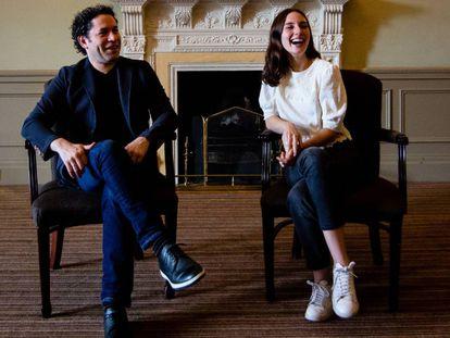 Conductor Gustavo Dudamel and actress María Valverde last Sunday in Edinburgh.