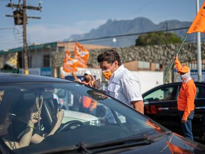 Samuel García, a candidate for Citizen Movement in Nuevo León state, campaigning in Santa Catarina on Friday.