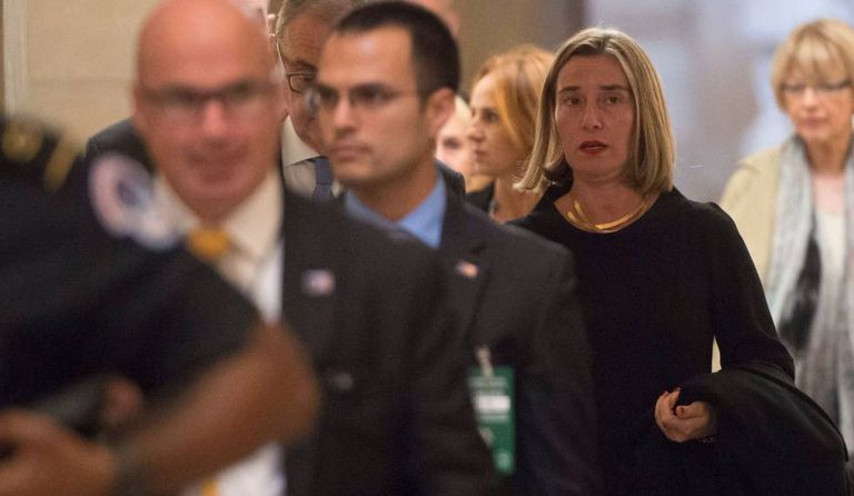 Federica Mogherini, EU High Representative for Foreign Affairs and Security Policy, at a meeting in Washington.