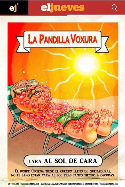 Cartoon of Vox co-founder José Antonio Ortega Lara in 'El Jueves.'