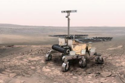 A European Space Agency rendition of the ExoMars rover.