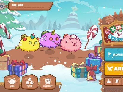 A screenshot from Axie Infinity.