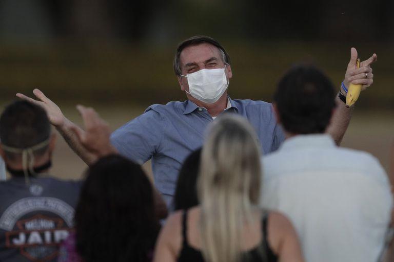Brazilian President Jair Bolsonaro in July, when he was infected with the coronavirus.