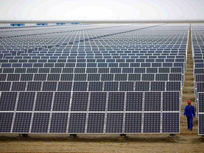 A solar power plant in Spain.