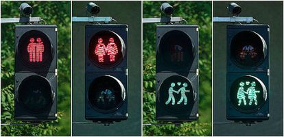 Traffic lights in Vienna, which spearheaded the initiative in 2015.