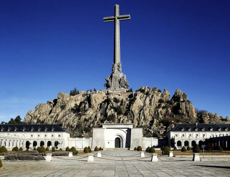 A giant cross towers over the Valley of the Fallen, north of Madrid.