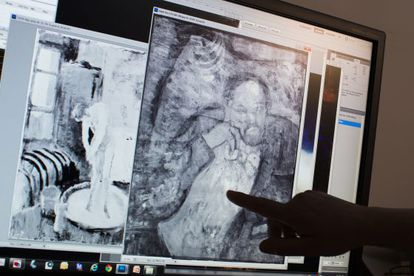 The mystery man beneath Pablo Picasso's 'The Blue Room.'