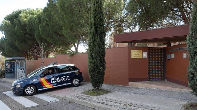 North Korean embassy in Madrid.