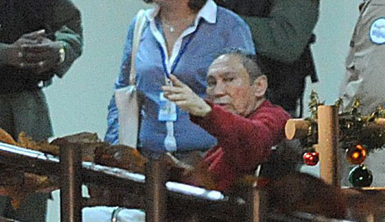 Noriega is taken to a Panamanian prison in December 2011.